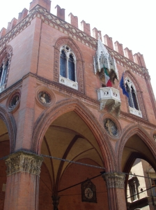 Bologna's Chamber of Commerce where the recipes for tortellini and tagliatelle are guarded.