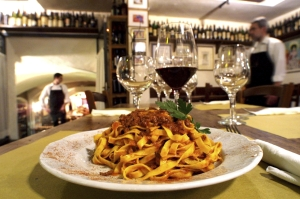 A must-try when visiting Bologna: tagliatelle al ragu'