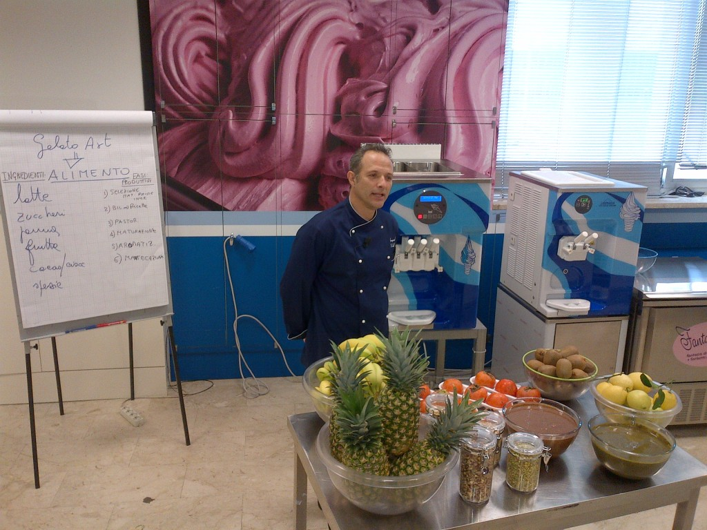 Gelato University instructor Gianpaolo Valli