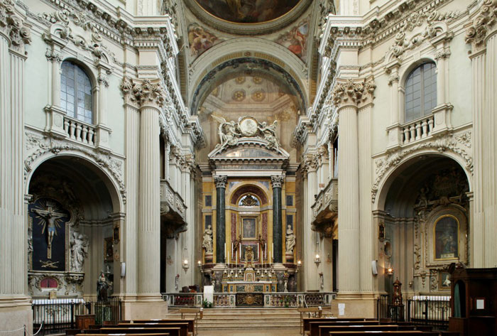 Interior of the Church of Santa Maria della Vita
