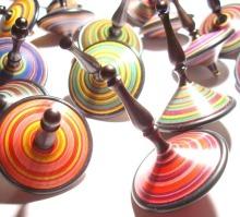 Mauro Sarti spinning tops