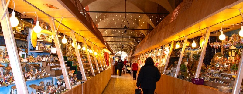 Christmas market in Bologna