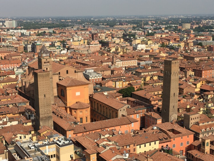 climbing the Asinelli Tower
