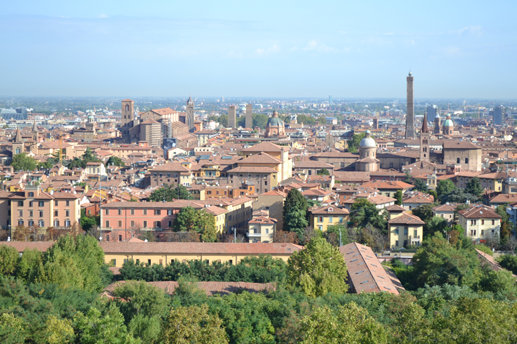 top views of Bologna