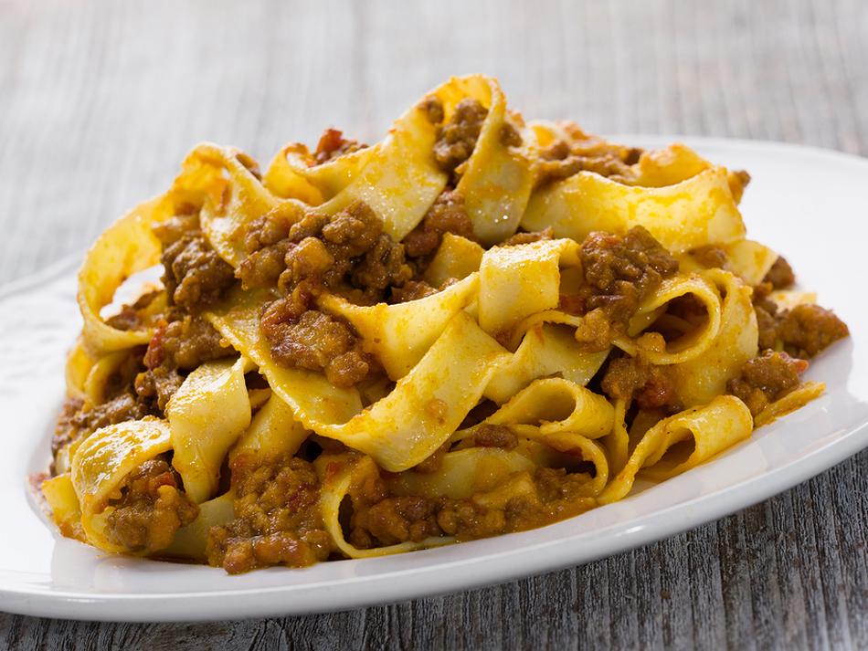 dish of tagliatelle al ragù from Bologna