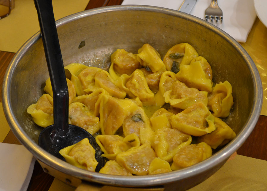 Pumpkin cappellacci from Ferrara