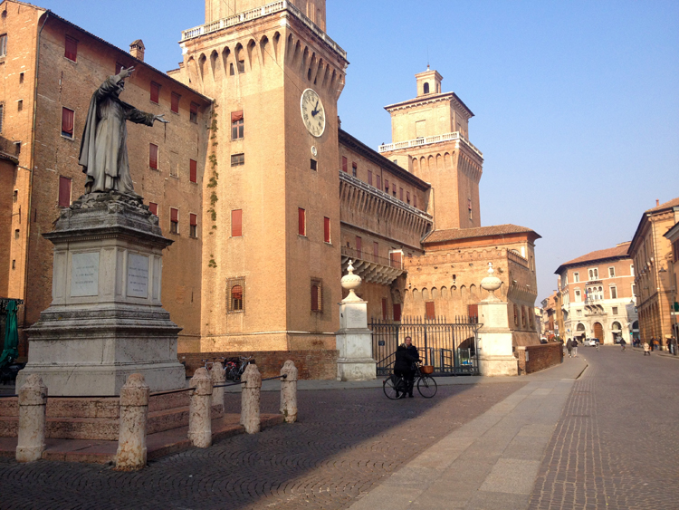 The Estense Castle in Ferrara.
