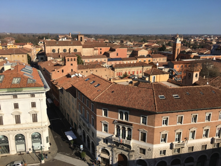 View over part of the Addizione Erculea from the Torre dei Leoni at Estense Castle