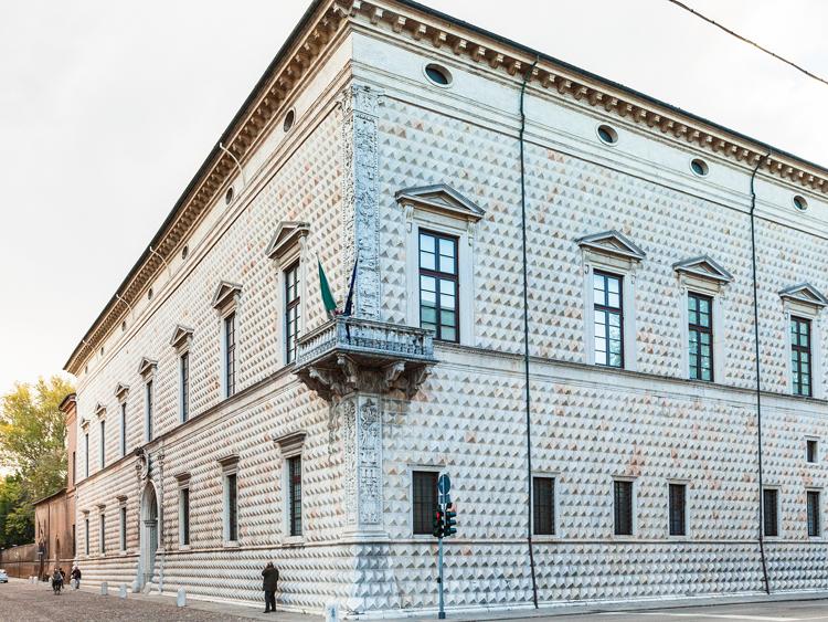 Palazzo dei Diamanti in Ferrara Italy