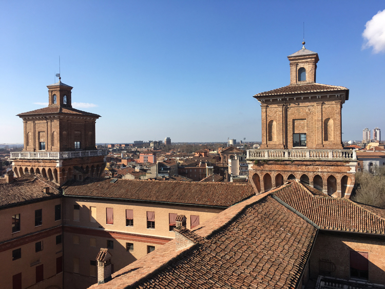 The view from the Estense Castle in Ferrara