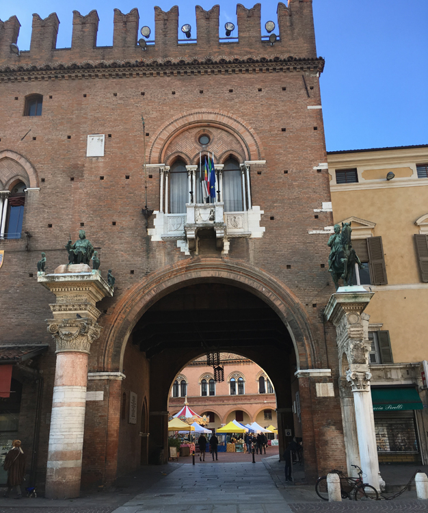 The Municipal Palace in Ferrara.