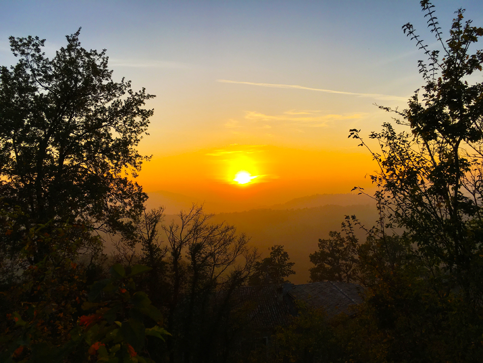 Sunset over the Reggio Emilia countryside