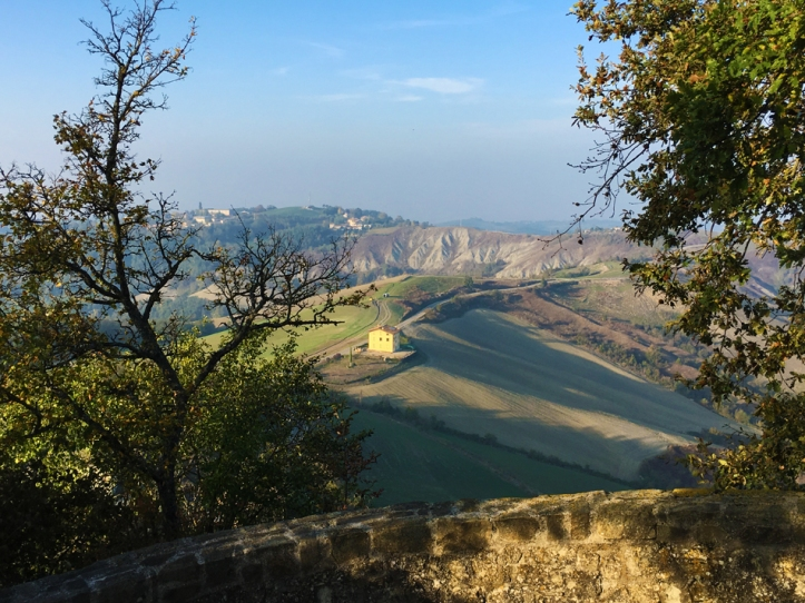 View of the Reggio Emilia countryside from Canossa Castle.