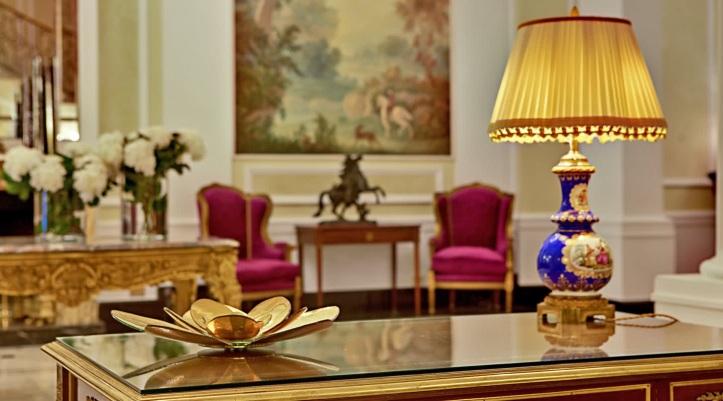 Interiors of Grand Hotel Majestic Già Baglioni in Bologna