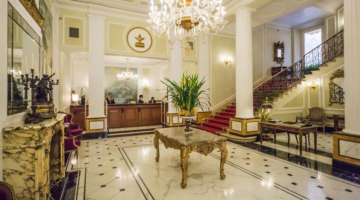 The hall at Grand Hotel Majestic Già Baglioni