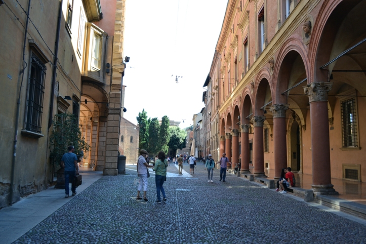 The portico at Piazza Santo Stefano in Bologna
