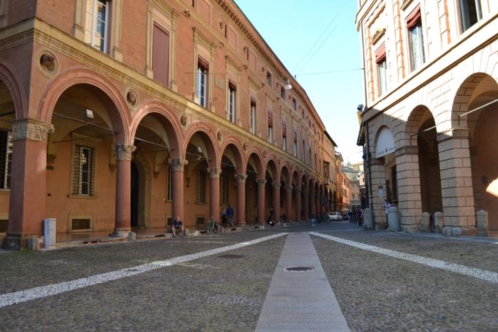 porticoes of Bologna in Piazza Santo Stefano