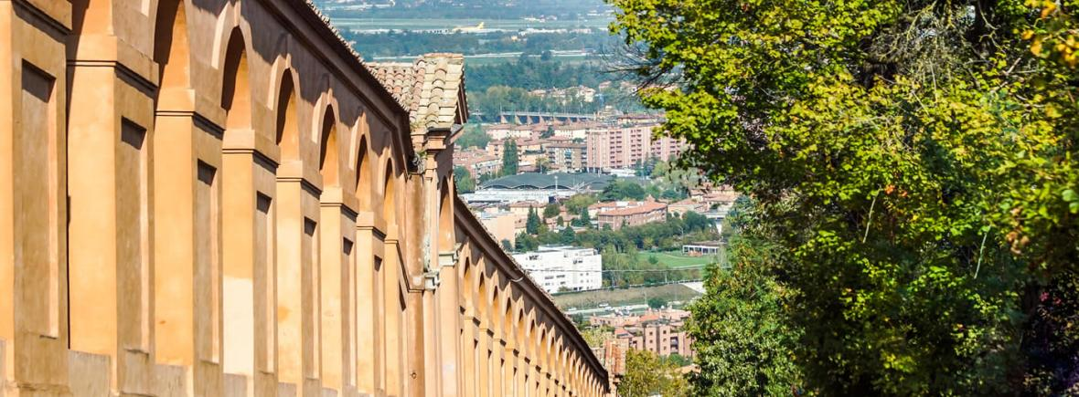 View of the Portico di San Luca in Bologna