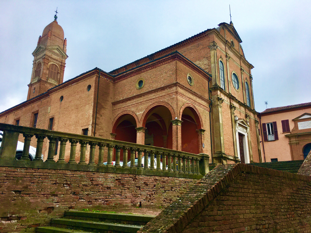 Exterior of San Michele in Bosco church in Bologna
