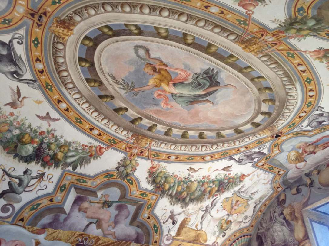 Fresco inside Torrechiara Castle