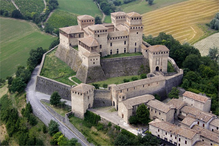 Castle of Torrechiara Parma Italy