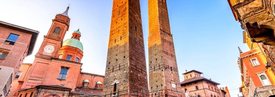 The Two Towers in Bologna