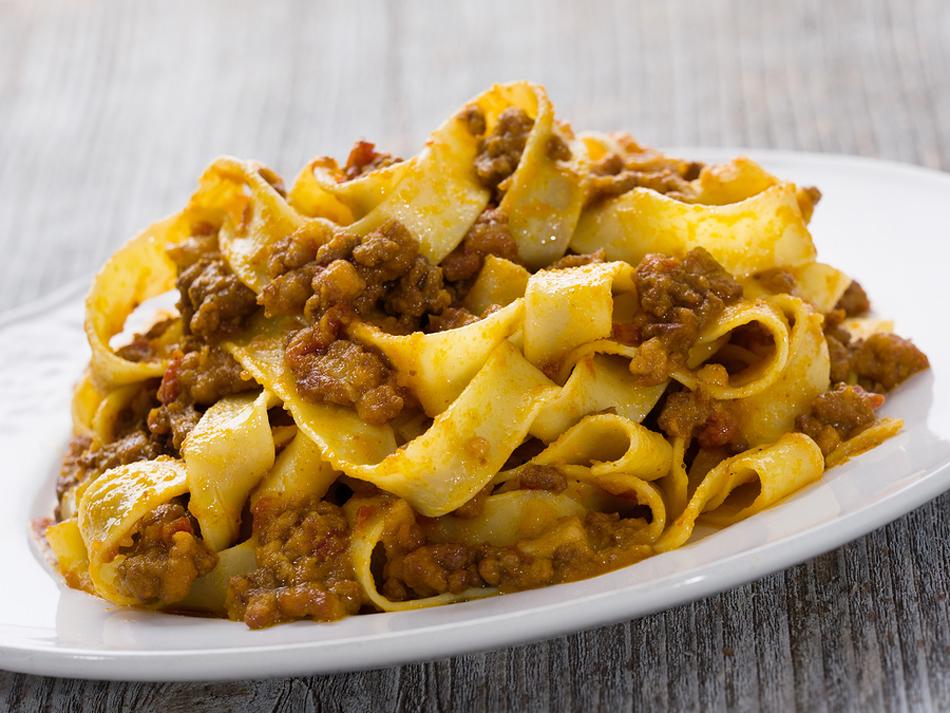 tagliatelle with rage sauce from Bologna