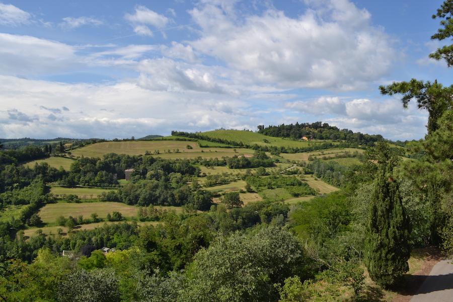 Bologna's hills